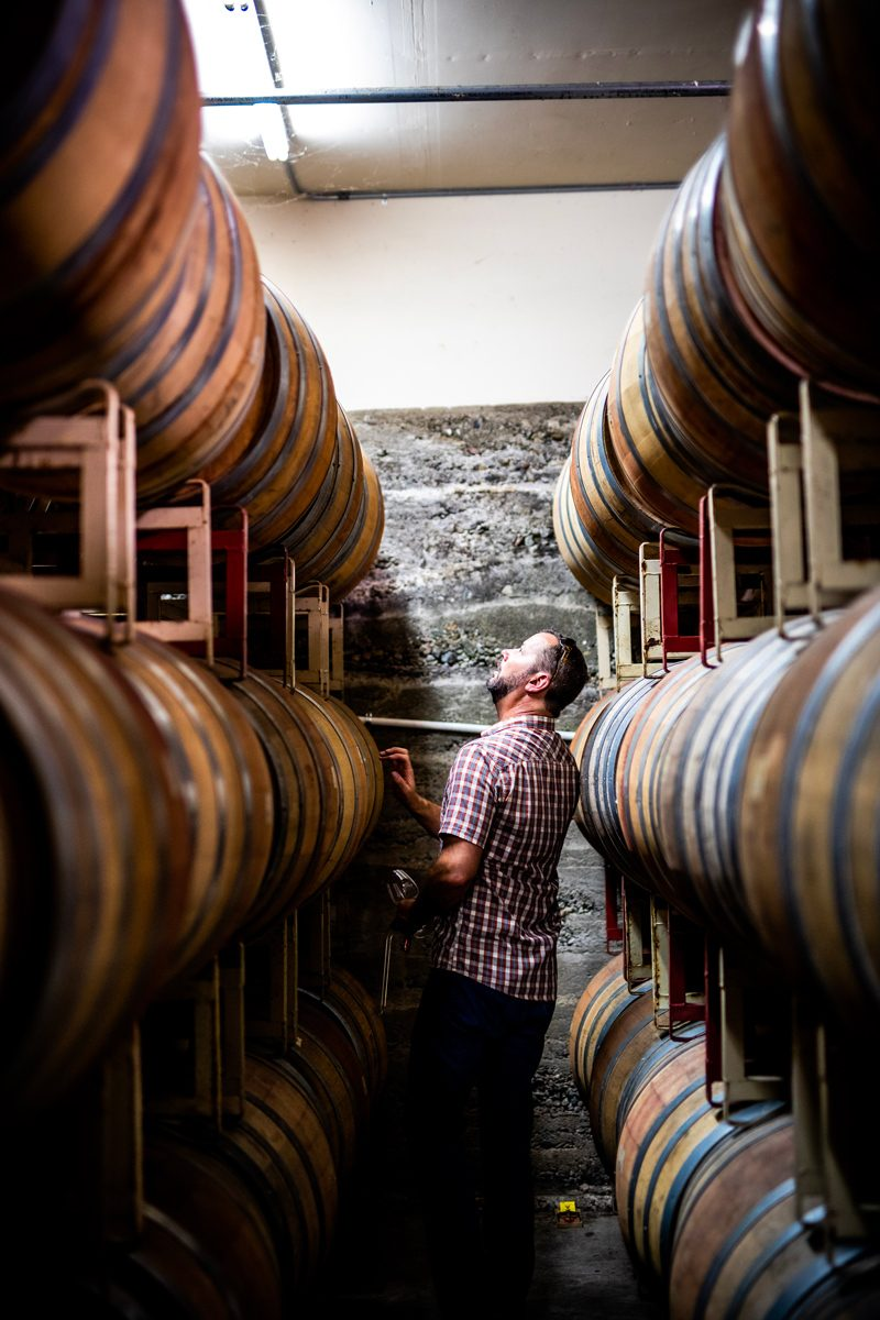 Winemaker Aaron Luna at Fenestra Winery