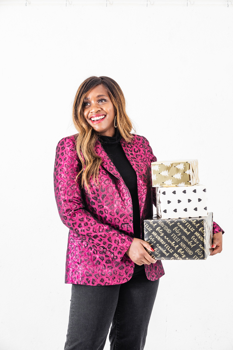 Rent the Runway Holiday Style Favorites featured by top US fashion blogger, Alicia Tenise: image of a woman wearing a Tanya Taylor Analiese Blazer