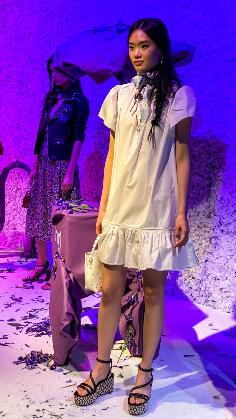 Rebecca Minkoff Spring 2020 Presentation | NYFW 2020 by popular DC fashion blogger, Alicia Tenise: image of a model wearing Rebecca Minkoff clothing.