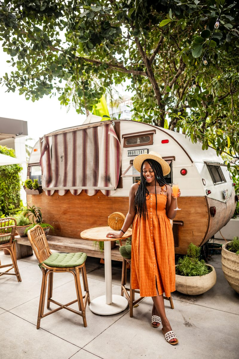 Habitat Miami | Things to do in Miami in the Spring: image of a woman at Habitat Miami.