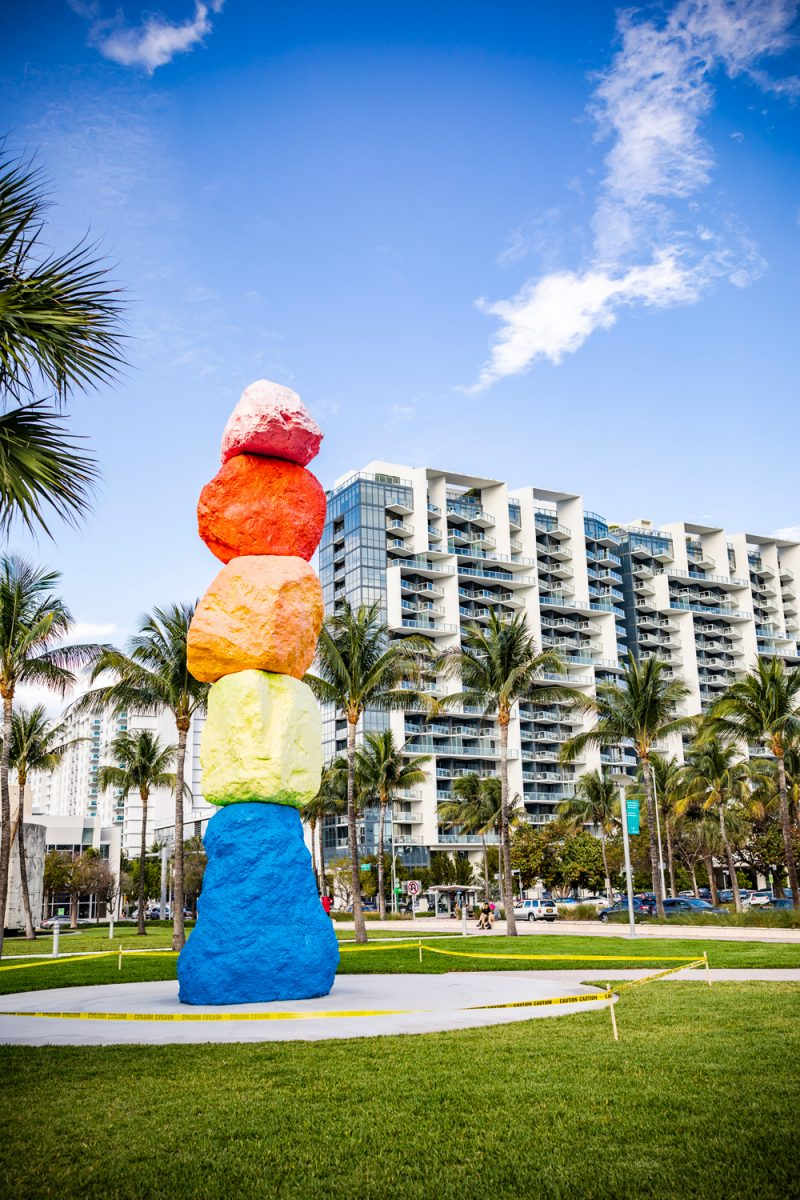 The Bass Museum Miami Beach | Things to do in Miami in the Spring: image of rock sculpture at the Bass Museum.