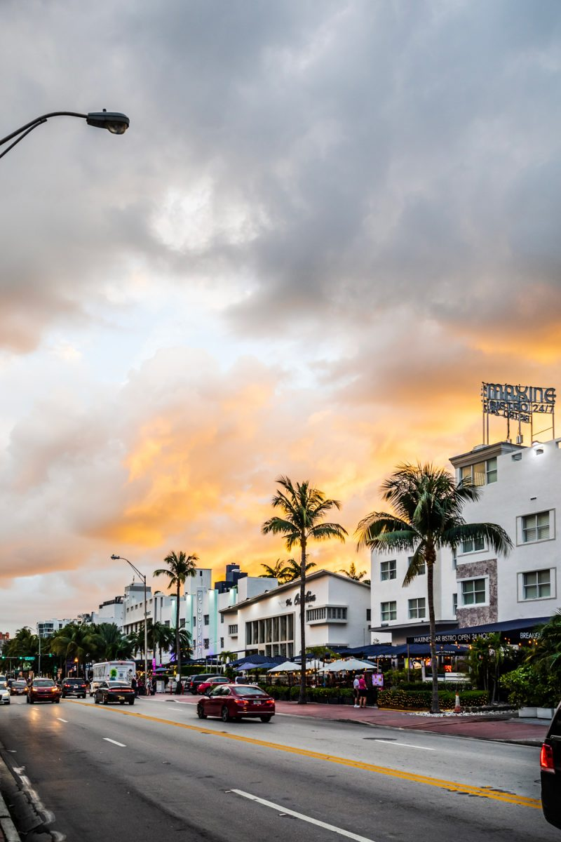 South Beach Miami | Things to do in Miami in the Spring: image of South Miami Beach at sunset.