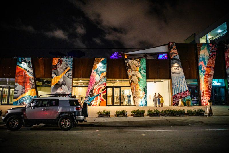 Wynwood Miami at Night | Things to do in Miami in the Spring: image of Wynwood Miami at night.