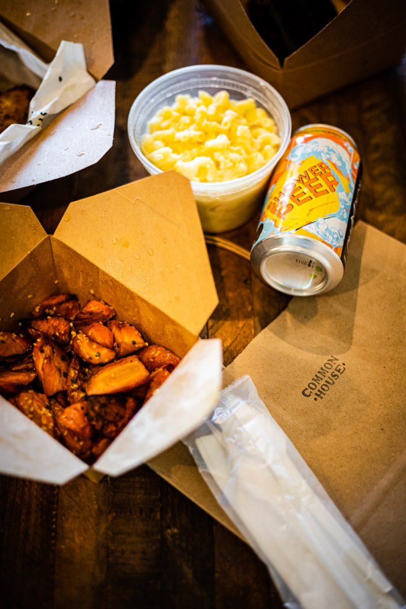 Charlottesville Small Businesses by popular D.C. lifestyle blogger, Alicia Tenise: image of carryout boxes from Common House restaurant.