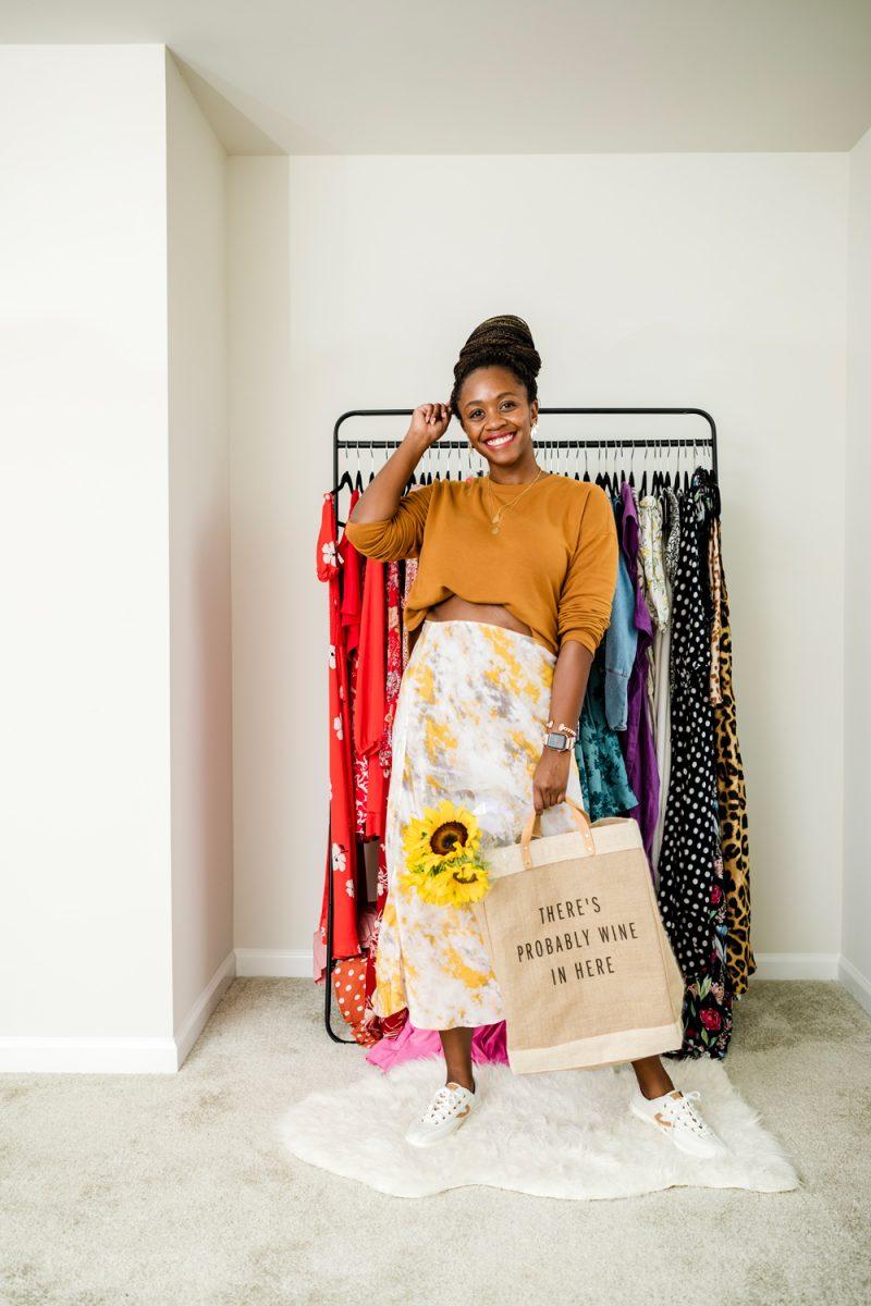 Spring Casual Look - Tie-Dye Midi Skirt