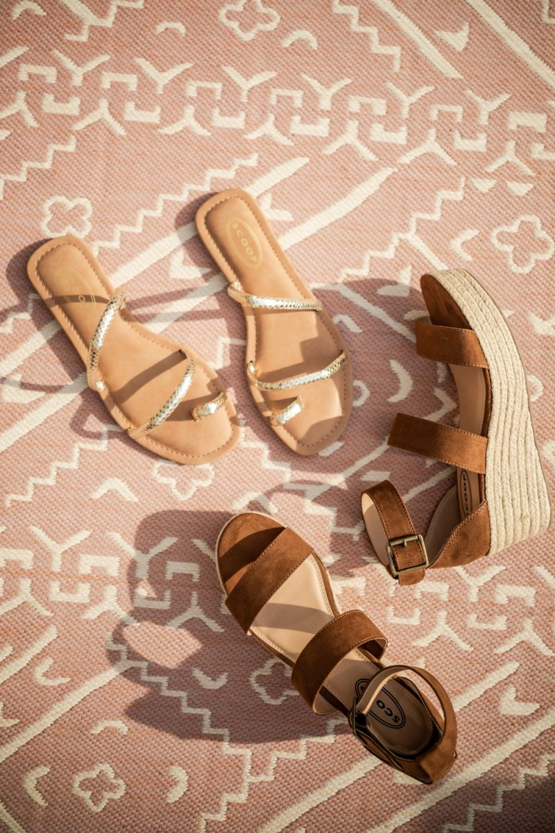 Walmart Fashion: Summer Essentials Under $50 Pieces You Need featured by top D.C. fashion blogger, Alicia Tenise: image of Scoop Aria Wedge Sandal Women's, Scoop Women's Sofia Strappy Flat Sandals