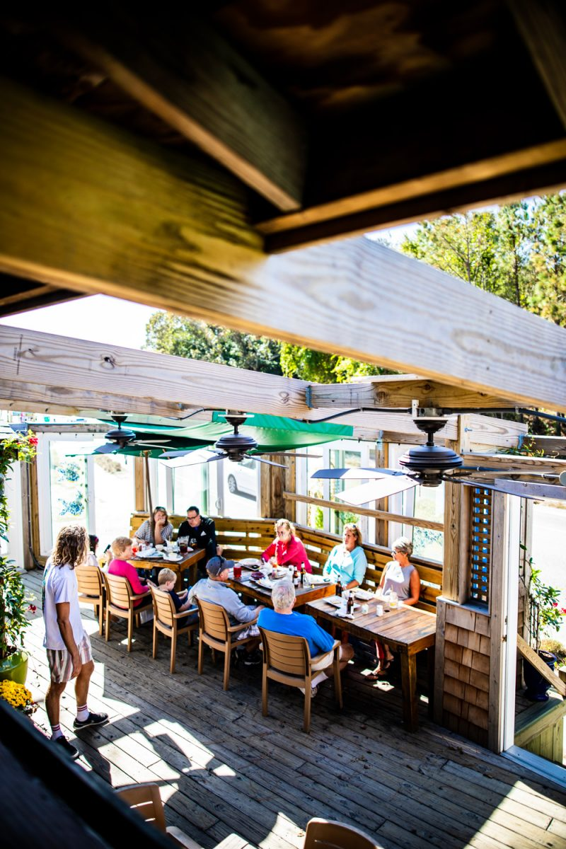 The Roadside Bar and Grill in Duck | Things to do in the Outer Banks by popular D.C. travel blogger, Alicia Tenise: image of the Roadside Bar and Grill in Duck North Carolina.