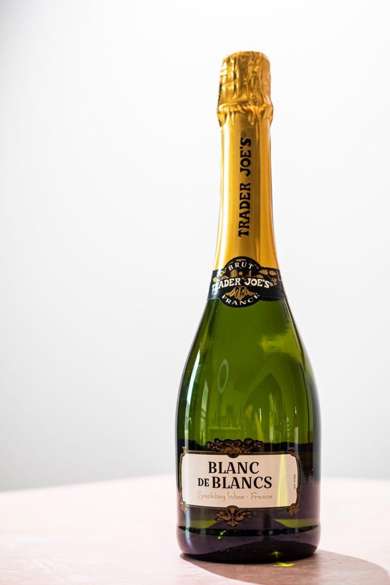 Trader Joe's Blanc de Blancs | Trader Joe's Wines by popular D.C. lifestyle blogger, Alicia Tenise: image of Trader Joe's Blanc de Blancs wine.