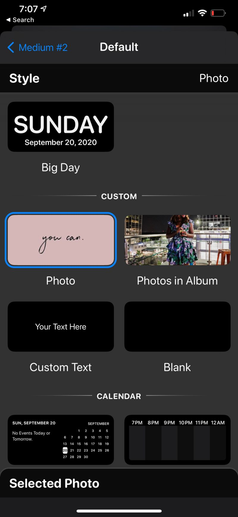How to Customize Widgets on iPhone by popular D.C. lifestyle blogger, Alicia Tenise: image of a Widgetsmith screen.