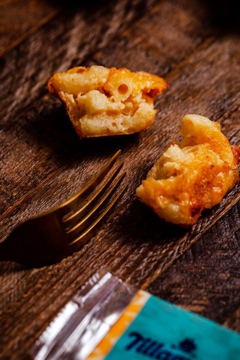 Mac and Cheese Bites by popular D.C. food blog, Alicia Tenise: image of individual mac and cheese bites.