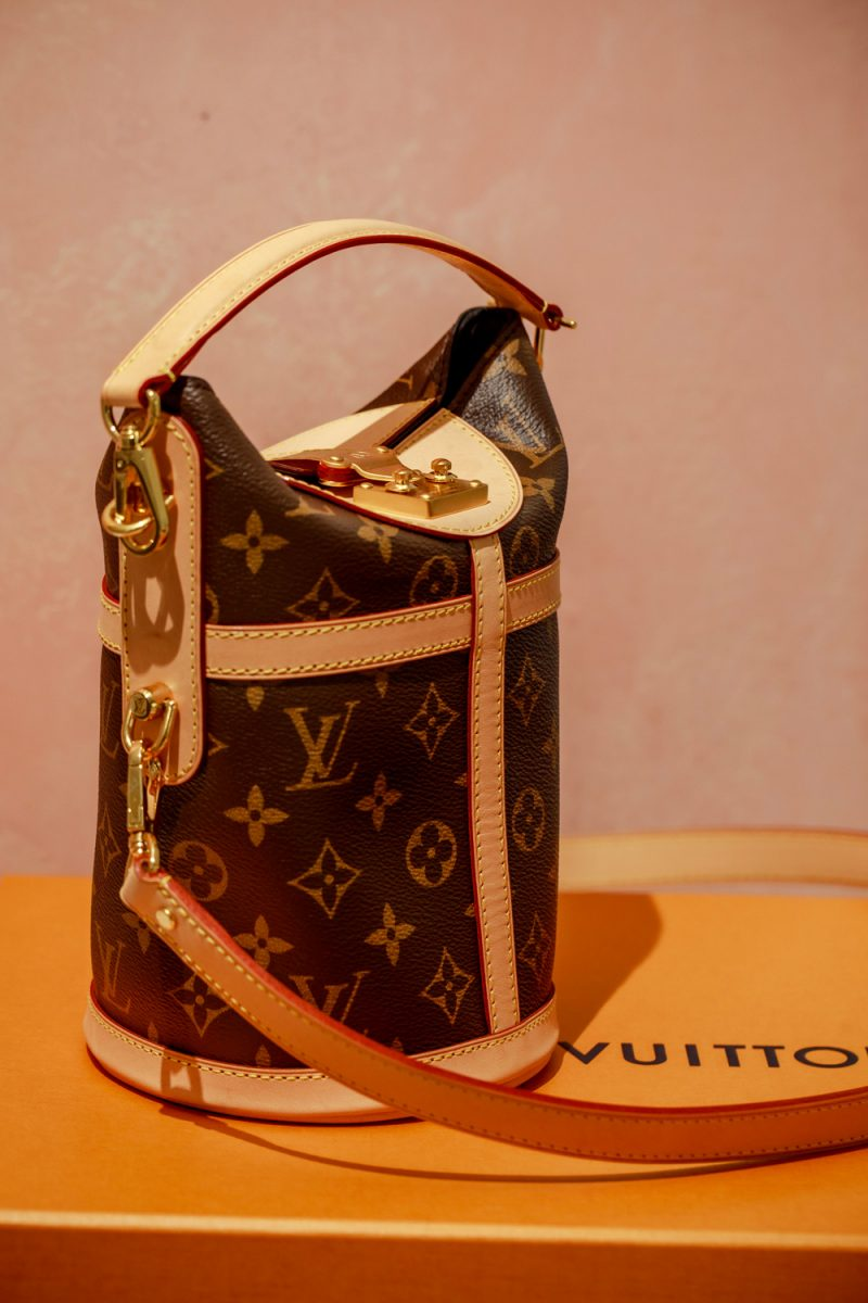 Louis Vuitton Duffle Bag |  Designer Bag by popular D.C. fashion blogger, Alicia Tenise: image of a Louis Vuitton duffle bag.