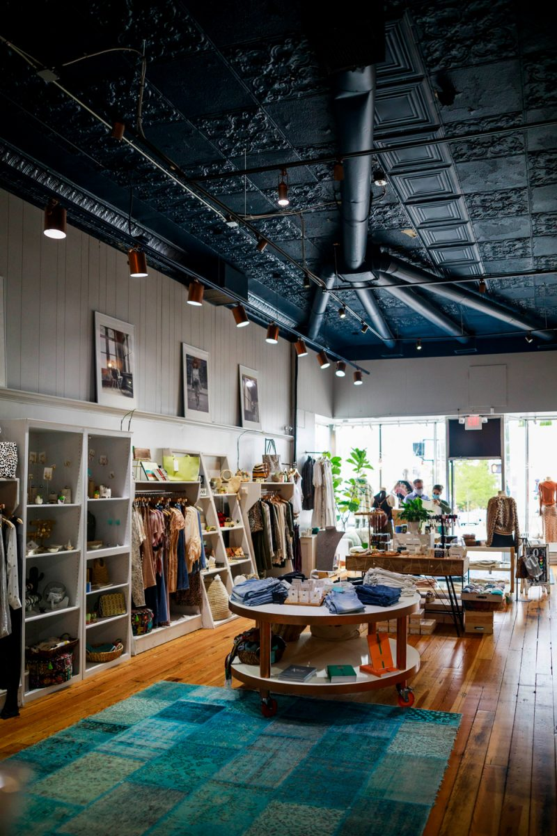 Hazel Twenty Boutique Asheville | Things to do in Asheville NC by popular D.C. travel blogger, Alicia Tenise: image of the Hazel Twenty boutique.