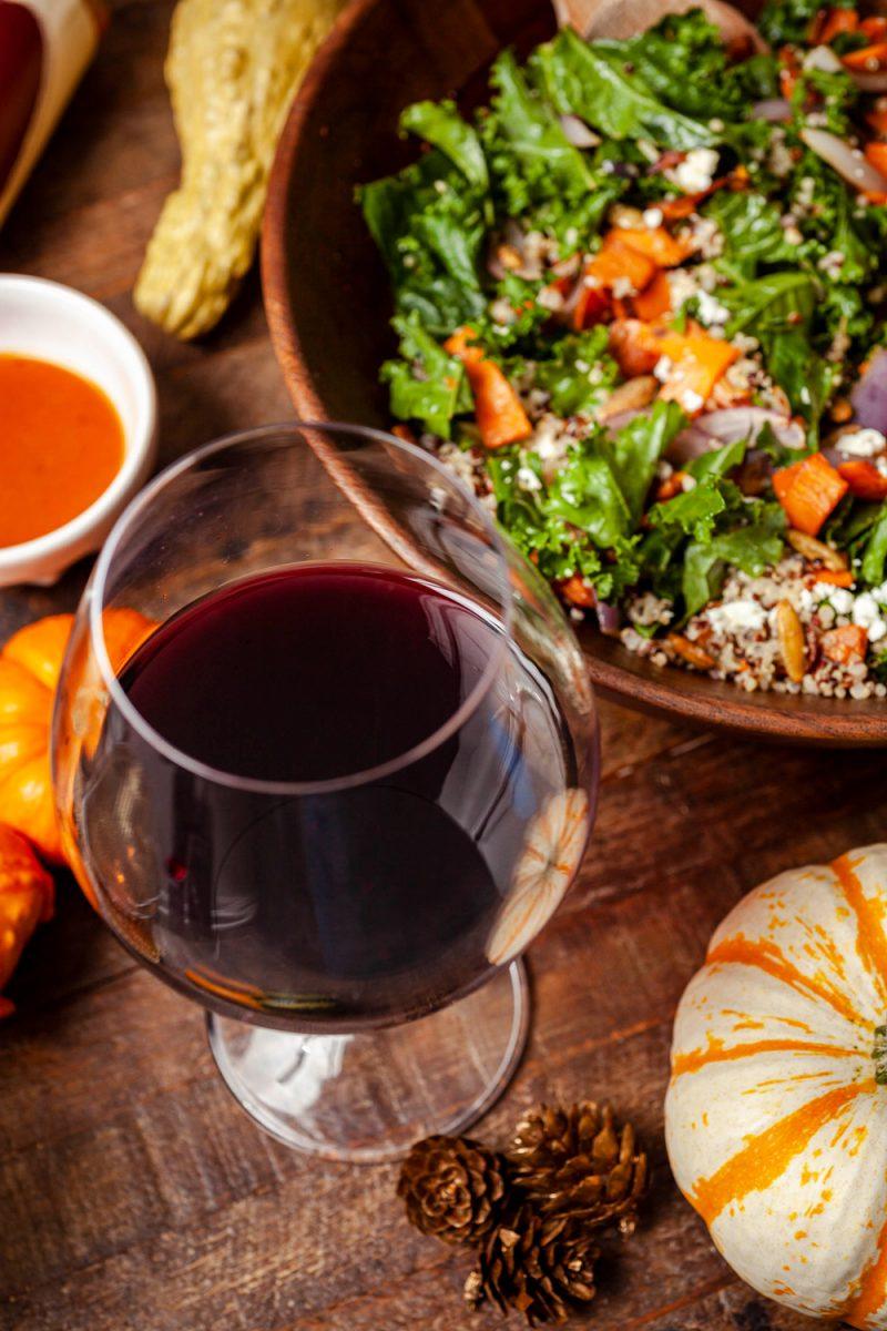 Warm Sweet Potato Salad Bowl, Trader Joe's Platinum Reserve Pinot Noir Carneros 2018