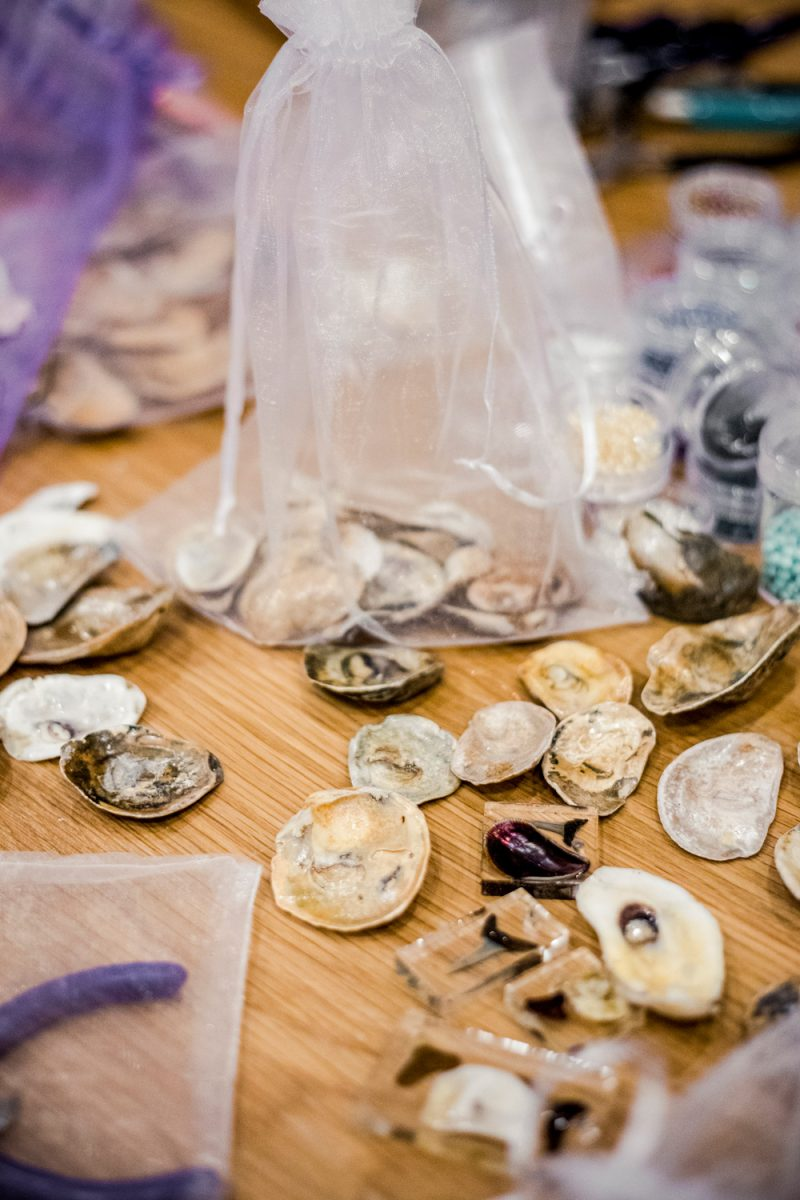 Oyster Jewelry Making Class at the Tides Inn |Tides Inn in Irvington by popular D.C. travel blogger, Alicia Tenise: image of oyster shells.