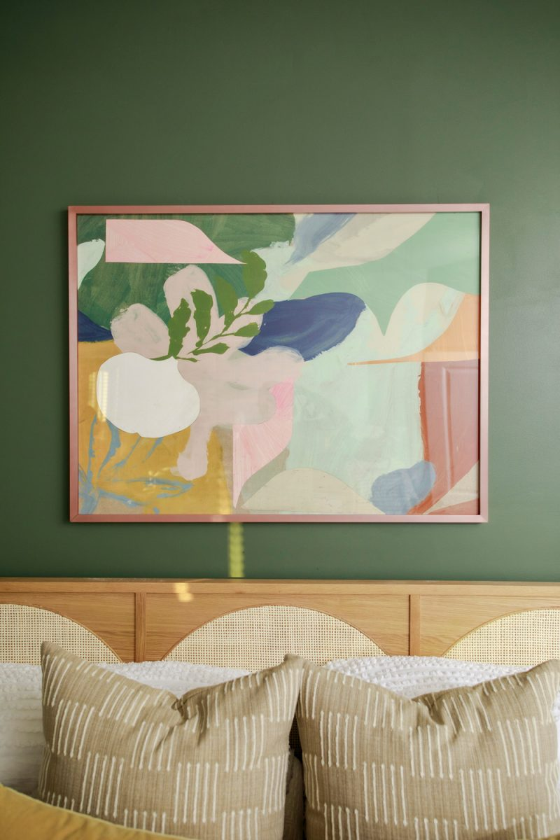 """Birthday Bouquet I"" art print, Sherwin Williams Rosemary 