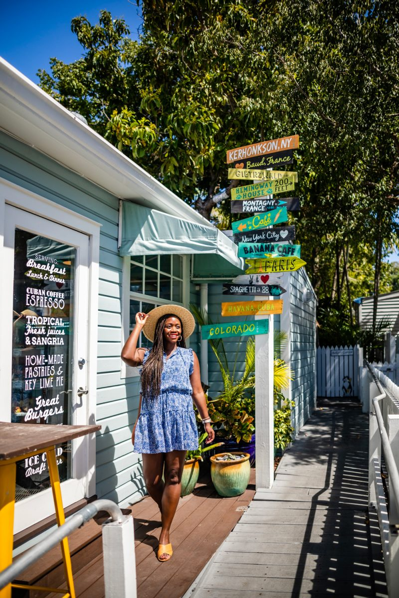 Moondog Cafe Key West |Florida Keys Road Trip by popular D.C. travel blogger, Alicia Tenise: image of Alicia Tenise at Moondog cafe.
