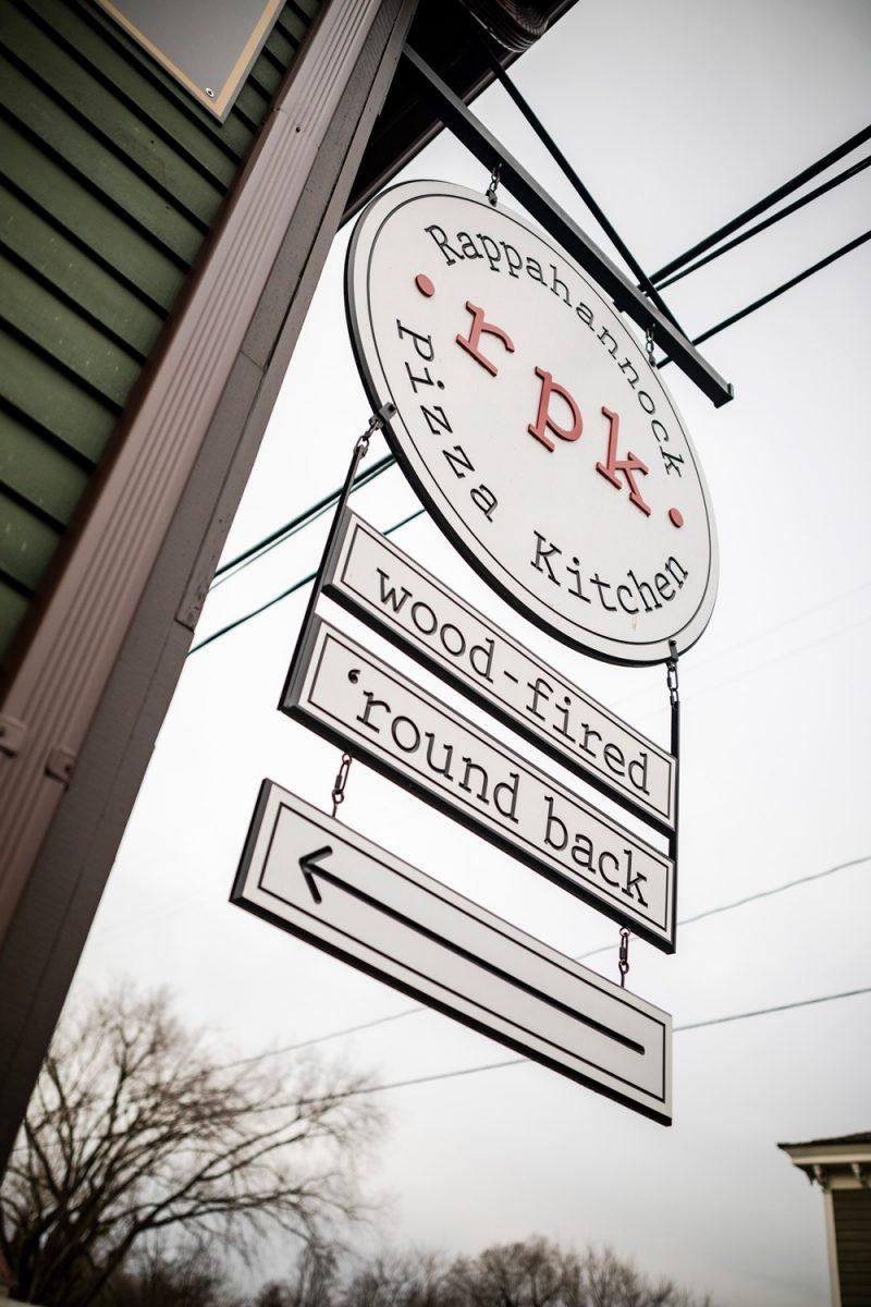 Rappahannock Pizza Kitchen |Washington VA by popular D.C. travel blogger, Alicia Tenise: image of a Rappahannock Pizza Kitchen sign.