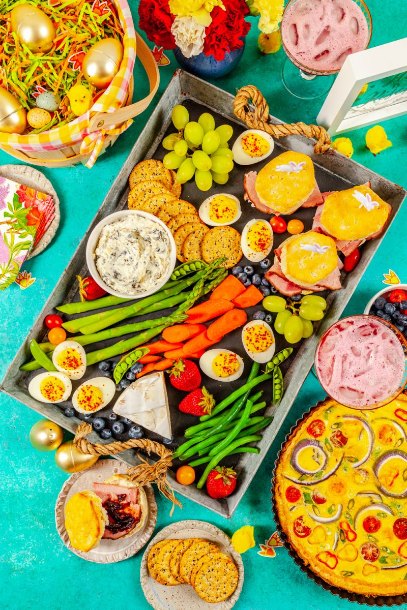 Easter charcuterie board ideas featured by top US lifestyle blogger, Alicia Tenise