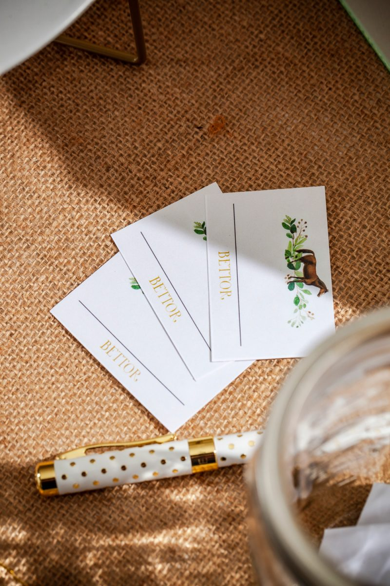 Kentucky Derby Party essentials featured by top US lifestyle blogger, Alicia Tenise |Kentucky Derby Party by popular D.C. lifestyle blogger, Alicia Tenise: image of Kentucky Derby bet cards.