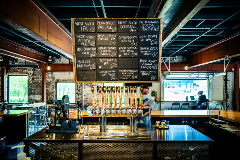West Sixth Nulu Brewing    Louisville KY Road Trip by popular LA travel blogger, Alicia Tenise: image of West Sixth Nulu Brewery.