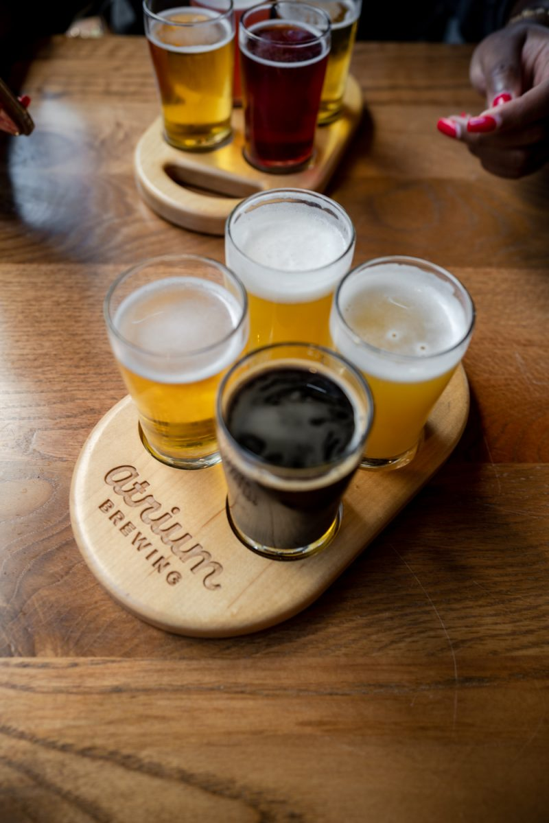 Atrium Brewing    Louisville KY Road Trip by popular LA travel blogger, Alicia Tenise: image of beer at Atrium Brewery.