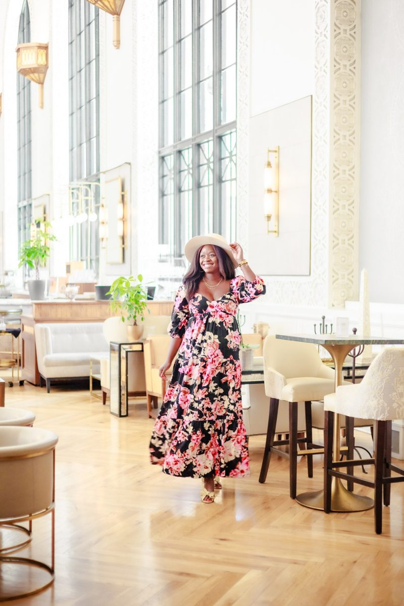 How to get out of a Depressive Slump, tips featured by top LA lifestyle blogger, Alicia Tenise - Anthropologie Blossom Maxi Dress, Denver Union Station