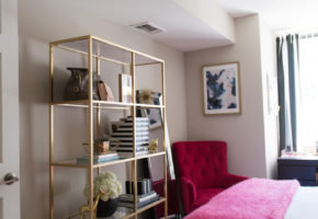 Bedroom Tour: Reading Nook With an Awesome IKEA Bookcase Hack